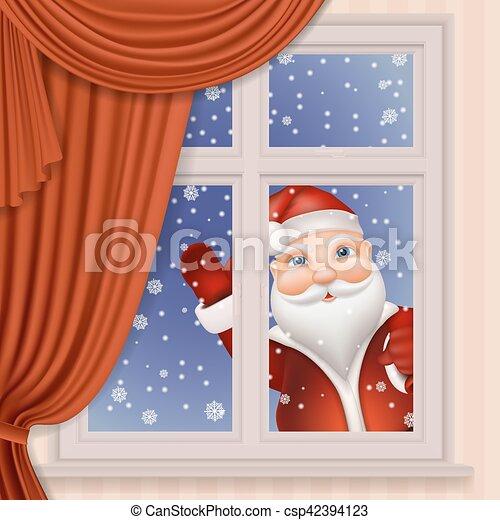 Schauen fenster claus durch santa lebensunterhalt for Fenster 800x800