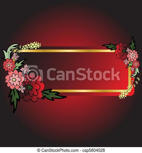 Scheda Fiore Sfondo Nero Rosso Astratto Nero Rosso Fondo