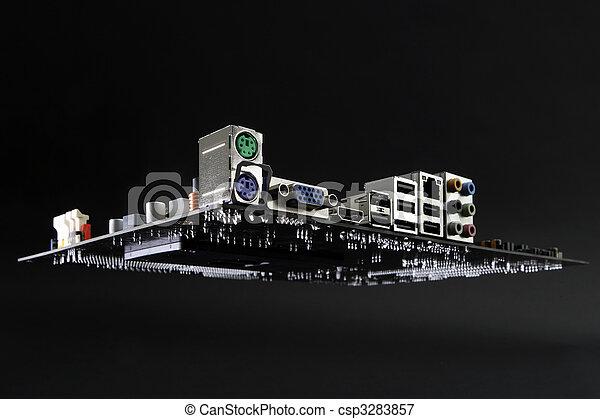 scheda madre, astronave - csp3283857