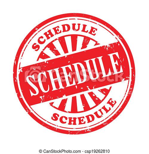 schedule grunge rubber stamp - csp19262810