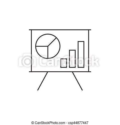Schedule on the whiteboard line icon - csp44877447
