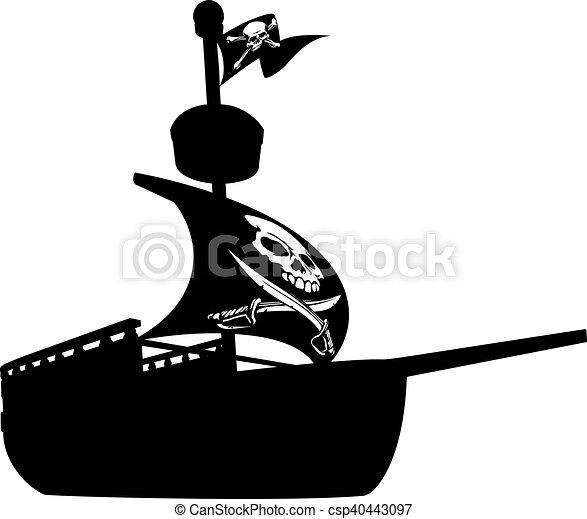 scheeps , silhouette, zeerover - csp40443097