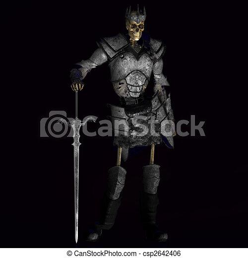 scheletro, guerriero, re, #01 - csp2642406