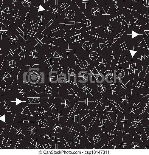 schematic symbols in electrical engineering pattern eps10 rh canstockphoto ca