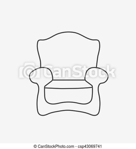 Schematically chair. modern flat style vector illustration.... eps on