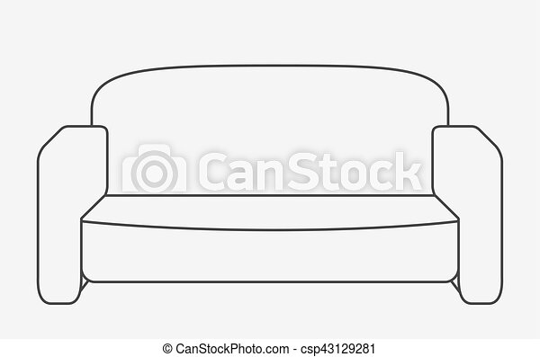Schematically sofa. modern flat style vector illustration. eps10. on