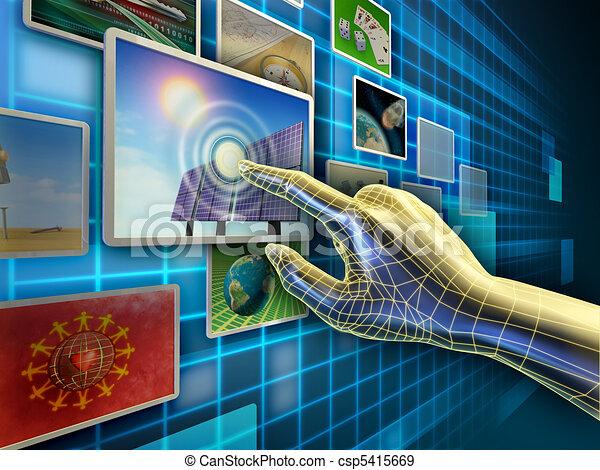 schermo tocco - csp5415669