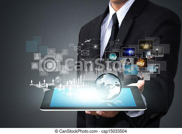 schermo tocco, tecnologia - csp15033504
