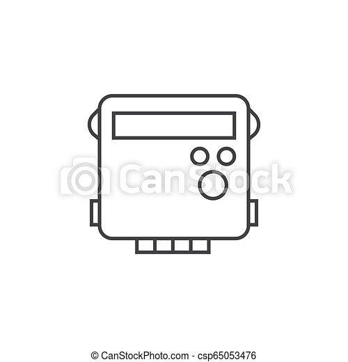 schets, energie, illustratie, vector, ontwerp, meter, pictogram - csp65053476