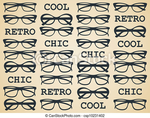 Retro chic Gläser - csp10231402