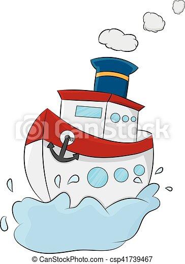 Schiff Karikatur Meer Schiff Segel Meer Abbildung Karikatur
