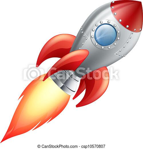 Cartoon-Raketen-Raumschiff - csp10570807