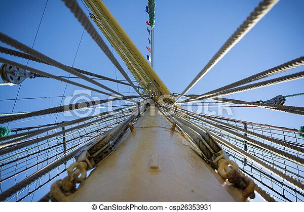 schiff, mast, fluchtpunkt - csp26353931
