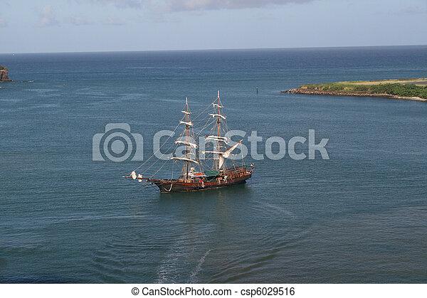 schiff, reproduktion, karibisch, pirat - csp6029516