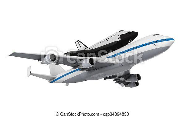 schiffchen, flugzeugträger - csp34394830