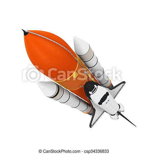 Space Shuttle isoliert - csp34336833