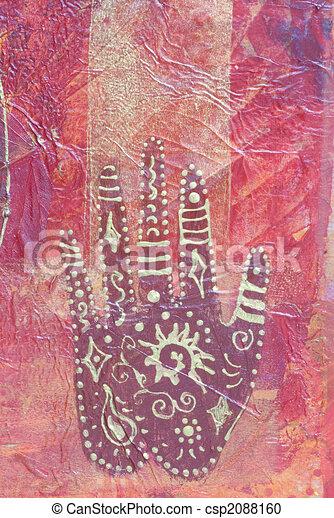 schilderij, ethnische  - csp2088160