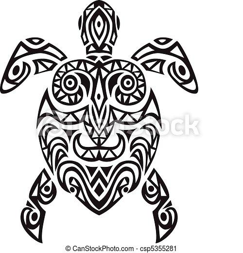 schildpad, ontwerp, tatto - csp5355281