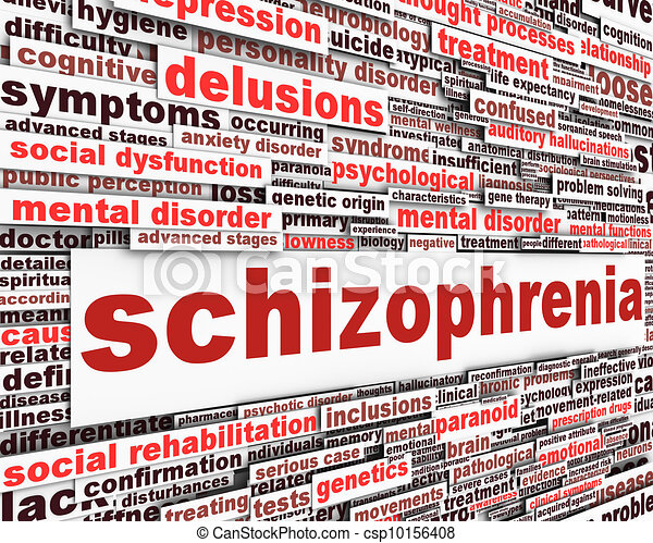 Schizophrenia message concept - csp10156408