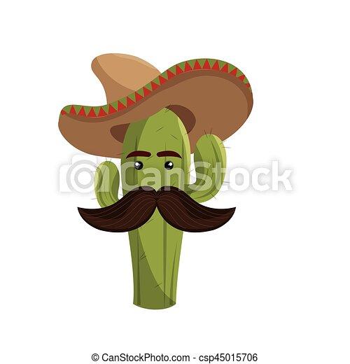Uomo di baffi cartoon con le braccia aperte stock photos