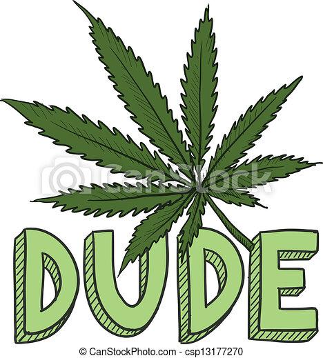 schizzo, bellimbusto, marijuana - csp13177270