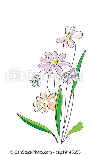 schizzo, fiori - csp19145655