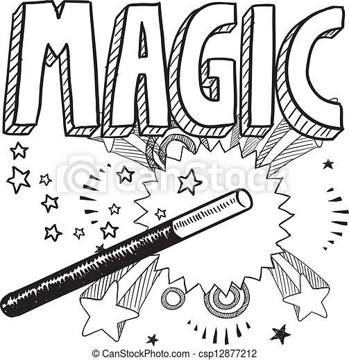 schizzo, magia - csp12877212