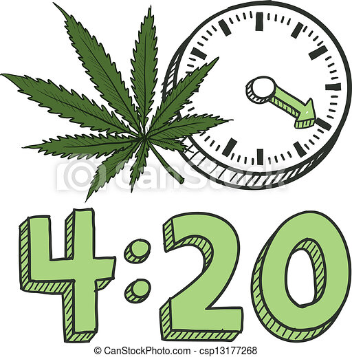 schizzo, marijuana, fumo, tempo - csp13177268