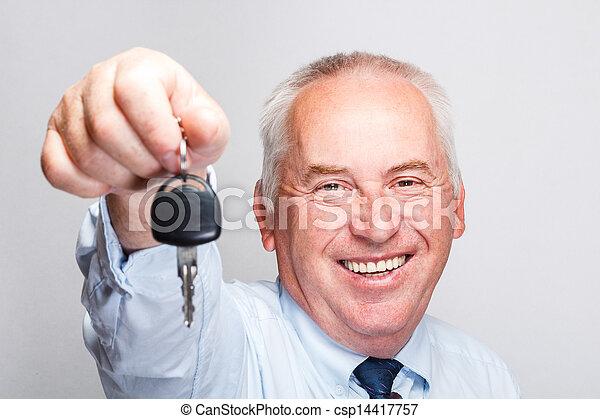 schlüssel, auto - csp14417757