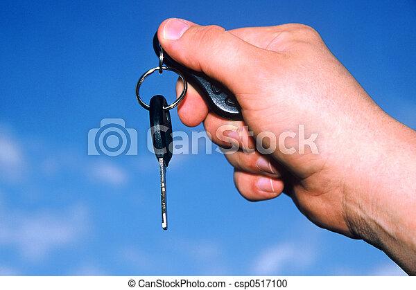 schlüssel, auto - csp0517100