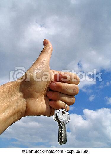 schlüssel, -, glück - csp0093500