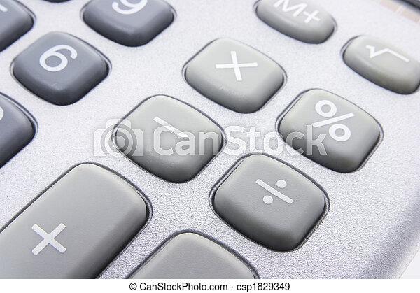 schlüssel, taschenrechner - csp1829349