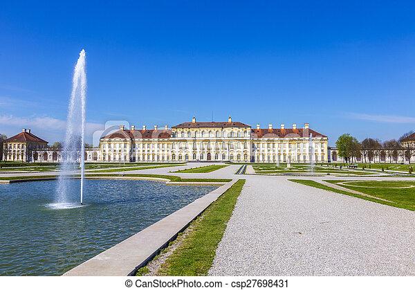 schleissheim, castillo, histórico, munich - csp27698431