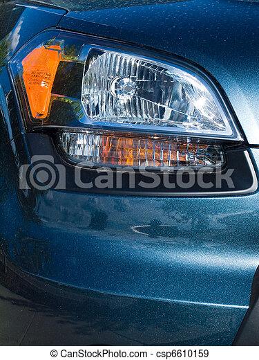 schließen, auto, scheinwerfer, auf, neu  - csp6610159