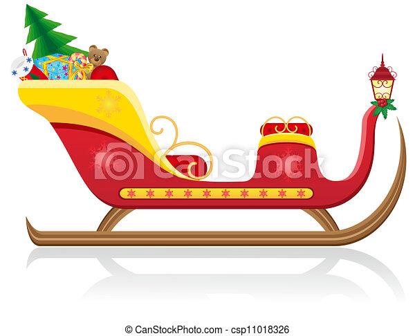 Schlitten Claus Weihnachten Santa Weihnachtsmann Freigestellt
