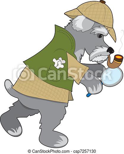 Schnauzer Detective - csp7257130