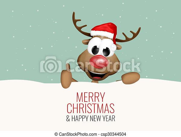 Bilder Rentiere Weihnachten.Schnee Rentier Daumen Hoch Weihnachten