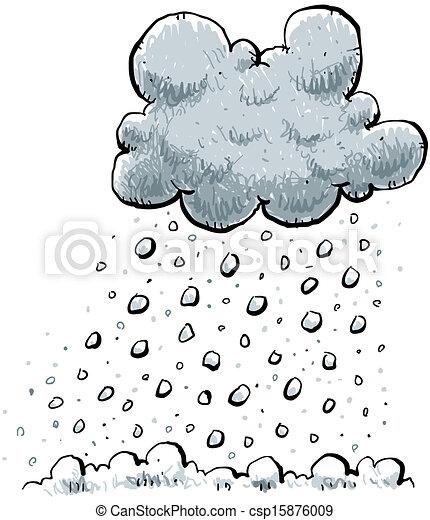 Ground Tropfen Schnee Wolke Karikatur