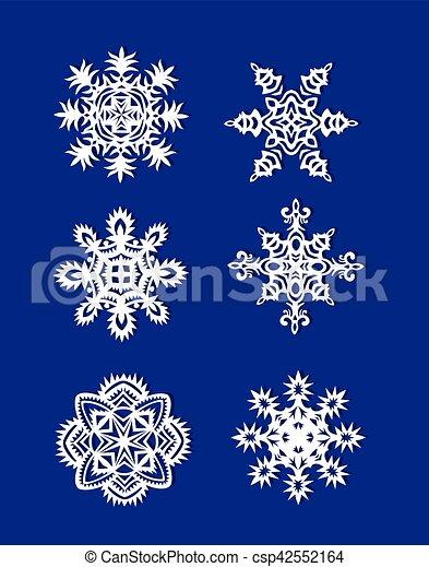 Schneiden Papier Schneeflocken Heraus