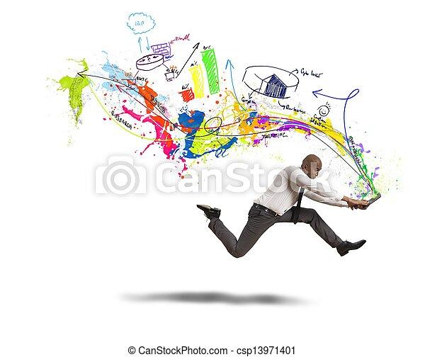 Schnelles kreatives Geschäft - csp13971401