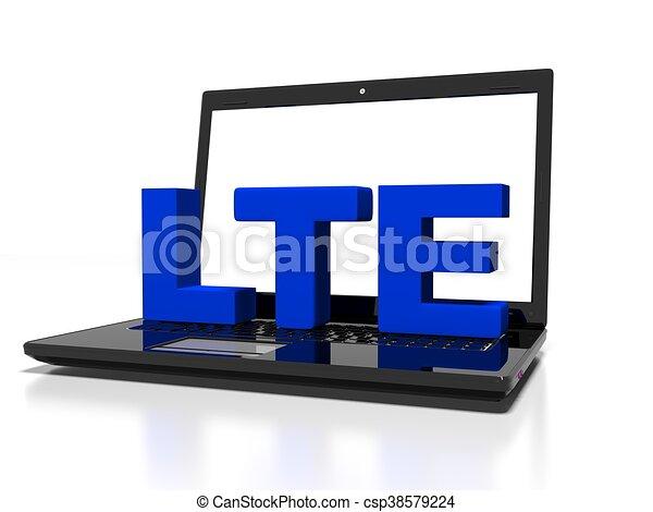 Schnell, render, begriff, kommunikation, symbol, drahtloser computer ...