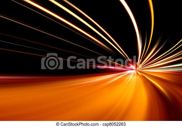 schnell, straße, rennen, nacht - csp8052263