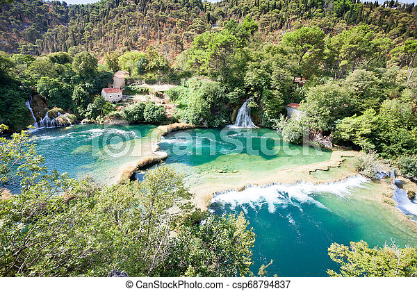 schoenheit, natur, park, sibenik, national, innerhalb, krka, -, krka, kroatien, genießen - csp68794837