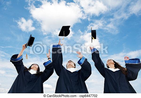 scholieren, afstuderen - csp6447702