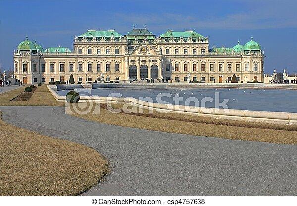 Schonbrunn Palace in Vienna - csp4757638