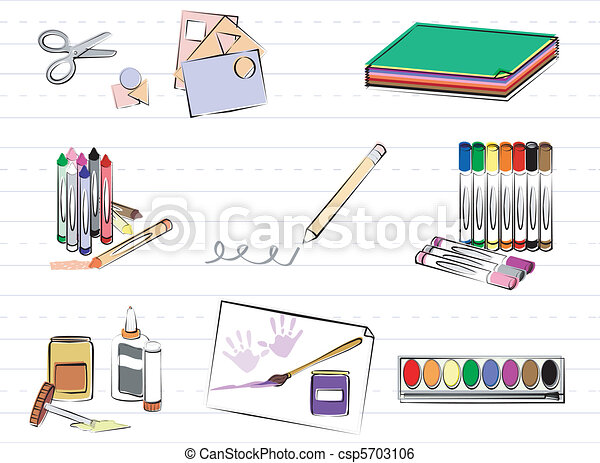 School and Art Supplies - csp5703106
