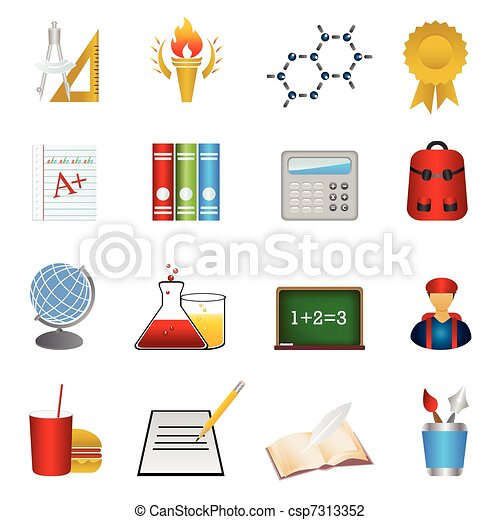 School and education icon set - csp7313352