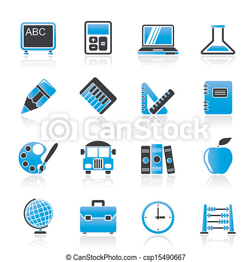School and education icons - csp15490667