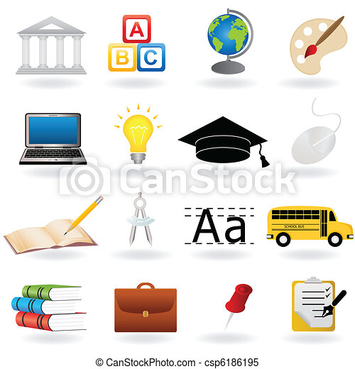 school and education icons school and education related symbols