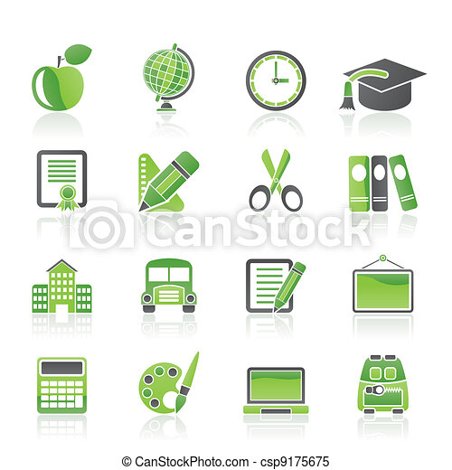 school and education icons - csp9175675